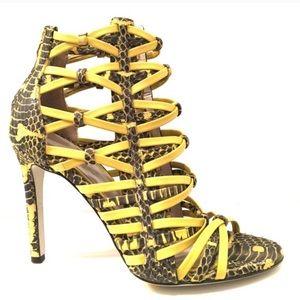 Jason Wu Snake-print Snappy Cage Heels